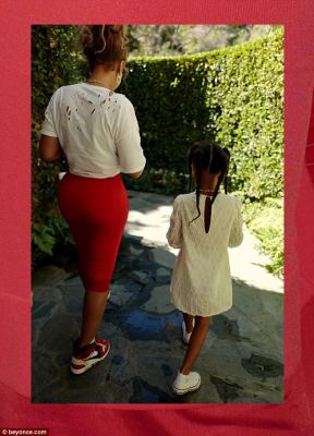 Aww:She was also joined by five-year-old daughter Blue Ivy Carter as they walked side-by-side