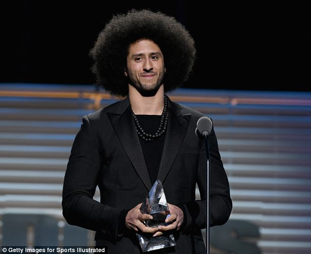 Combs said his first order of business would be hiring Colin Kaepernick (pictured) who opted out of his contract with the 49ers in March and has not been signed by another team