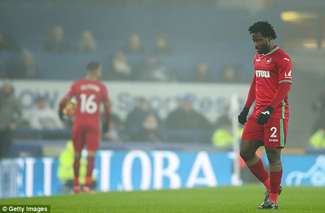 Monday night's defeat at Goodison Park saw Wilfried Bony limp off on the five-minute mark