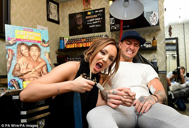 No more: Romance first blossomed for the pair early last year while presenting their joint MTV series Just Tattoo Of Us (pictured on the show)