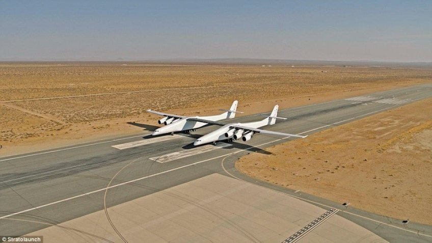 The world's biggest plane is a step closer to its first flight, after passing another major milestone. During the aircraft's first low-speed taxi test, Stratolaunch successfully travelled down the runway at 25 knots (28 miles per hour). Once testing has been completed, the aircraft will be used to launch satellites and other craft into space
