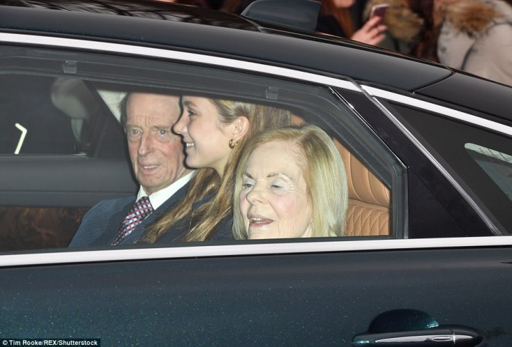 The Duke and Duchess of Kent were joined by granddaughter Marina Windsor for their journey to Buckingham Palace