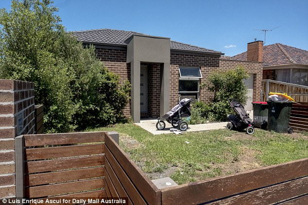 The deserted house at Avondale Heights where a toddler was run over on Wednesday night