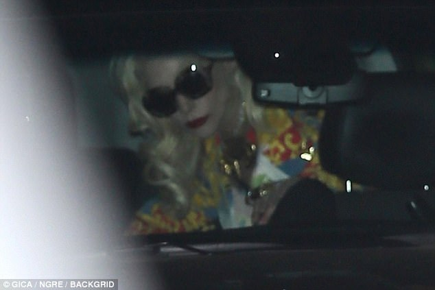 Shady lady: Keeping her eyes shielded behind a pair of heavily tinted sunglasses, the singer looked subdued despite recently announcing plans for her Vegas residency