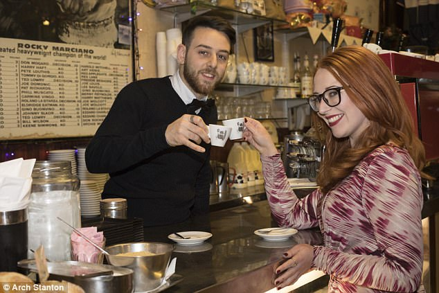 Coffee bar workerEmmanuel Alemaani, 20, from Sicily gave Esther his number after being impressed by how elegant she smelled