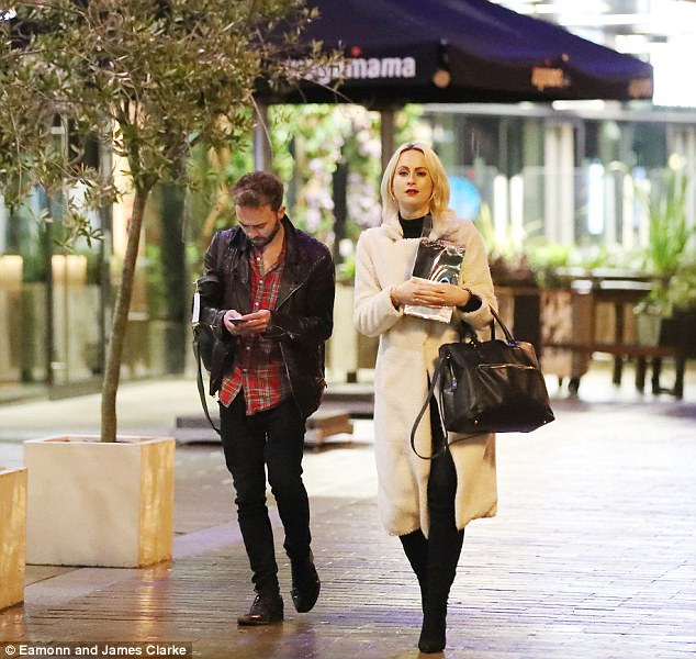 New love: Jack and Hanni went public with their relationship after being spotted on a date together in November