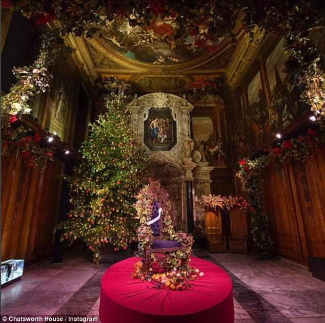 Literary inspiration: The Chapel is decorated in homage to the decadent feast shown to Scrooge by the ghost of Christmas present, in A Christmas Carol