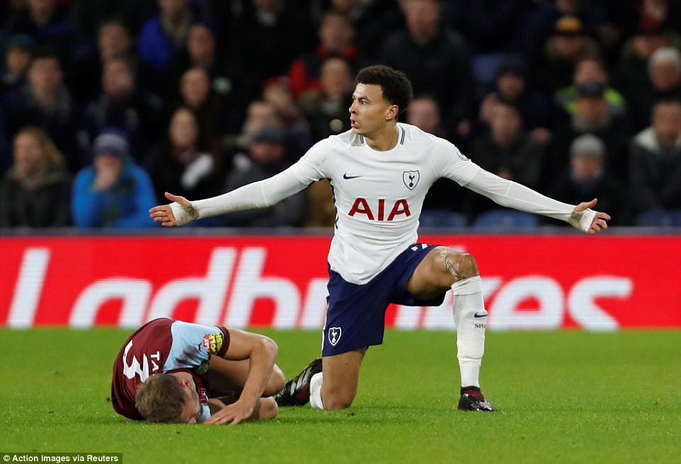 Alli, who was booed by the home supporters for the rest of the match, protested his innocence while Taylor lay on the floor