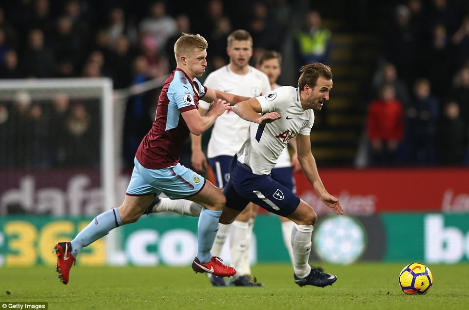 Kane looked sharp as Tottenham dominated the first half in which they posted 10 shots, while Burnley failed to register one