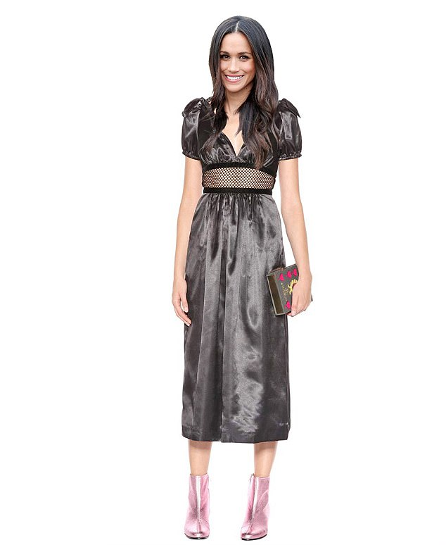MYTHERESA.COM £237: Alexa Chung is a great new brand and will win Meghan plenty of 20-something fans should she choose it. This dress has lots of flesh on show, and pretty puffed sleeves. It's edgy, too