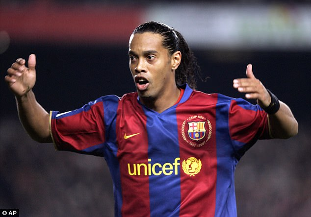 Ronaldinho described the five years he spent at Barcelona as the 'best of my life'
