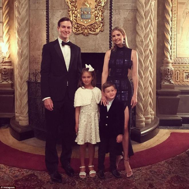 Ivanka, Jared and their two kids, Arabella and Joseph smiled for the camera in a cute Instagram snapshot that shows the group in black tie and dresses