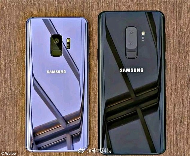 Samsung fans will have to wait for another month before they get their first glimpse of the Galaxy S9 and S9+. The 'iPhone X killers' will make their debut at the Mobile World Congress. Pictured are leaked images claiming to show what the back of the phones could look like