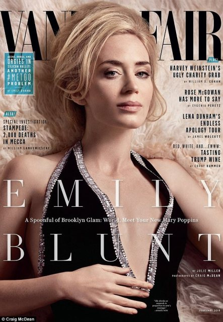 Blunt by name and nature: British-born actress Emily Blunt shared a few of the things she's learned since starting out in 2003 in an interview for the February issue of Vanity Fair