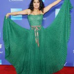Salma Hayek Lovely In Green at the Palm Springs International Film Festival
