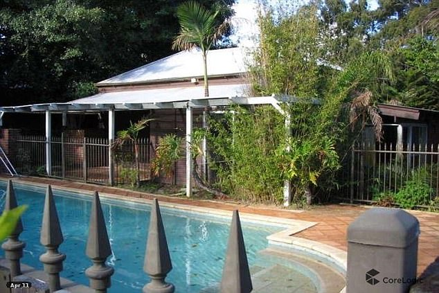 The house also has a large pool in the backyard