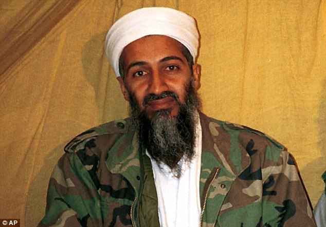A letter written by Hamza, whose father Osama Bin Laden (pictured) was shot dead by a US Navy Seal team in 2011, mourned the death of the 'hero cub' and described his eldest son as 'the grandson of bravery' - adding that he liked to play-act scenes of martyrdom