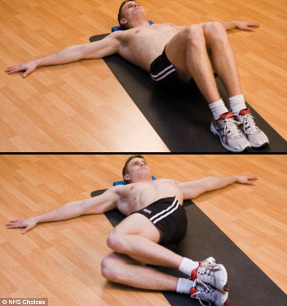 Knee rolls also work by stretching and mobilizing the spine