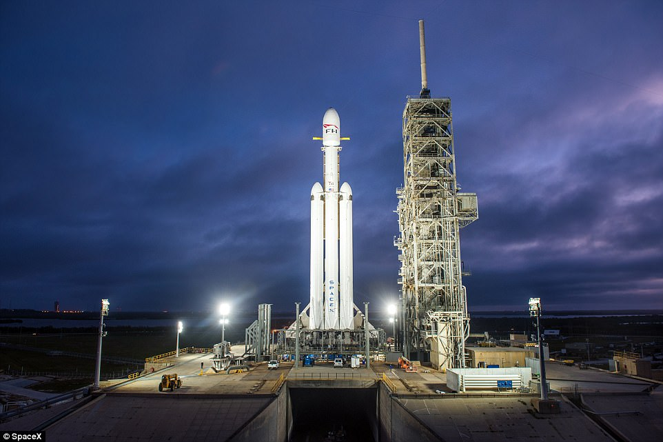 If all goes according to plan, the Falcon Heavy will lift off and enter orbit before two of its booster rockets separate and return to Earth at Cape Canaveral in controlled landings. The centre core of the rocket will then separate from the main module, containing Musk's car, and begin its own controlled descent back to Earth, landing on a drone ship in the Pacific Ocean