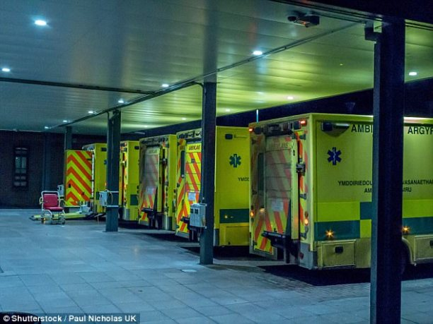 It has emerged that sixteen,900 sufferers waited in ambulances for half-hour or more closing week