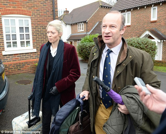 Ukip confirmed Mr Bolton visited his wife on Christmas Eve in Austria before flying back to Kent to meet Ms Marney, pictured left, outside her home in Maidstone