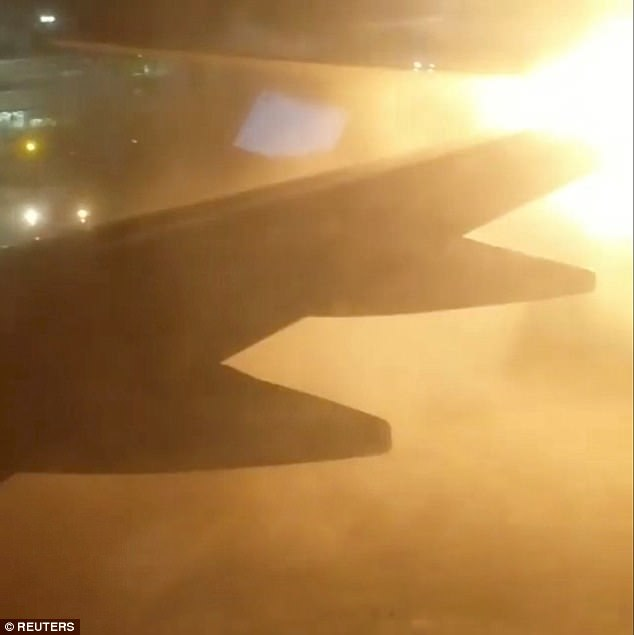 Passengers aboard the WestJet plane can be heard screaming and panicking as they watch the flames at Toronto Pearson International Airport