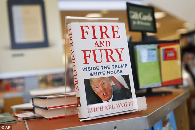 Award-winning political writer Mr Wolff, 64, said he had been 'astounded' by the global impact of his book (pictured), which was based on months inside the White House West Wing
