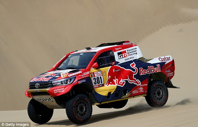 Two-time championNasser al-Attiyah holds a 25-second lead after the 35km first stage
