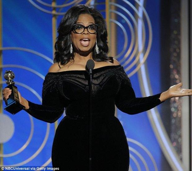 """Los admiradores de Oprah Winfrey elogiaron su discurso de los Globos de Oro aceptando el premio Cecil B DeMille, diciendo que """"es uno de los mejores discursos de Estados Unidos"""" y que incluso la apodaron el futuro presidente"""
