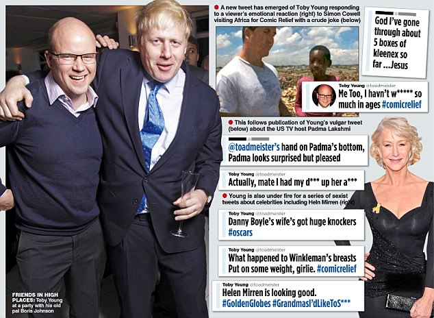 Some of the tweets which sparked calls for Toby Young to step down from his role