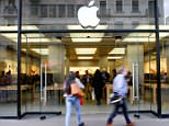 Evacuated: It is believed that a fault with the battery caused it to overheat and smoke, prompting the evacuation of 50 people from the Zurich Apple Store, pictured