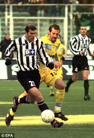 Zinedine Zidane was named 1996's Ligue 1 player of the year with Bordeaux before the Italian giants swooped