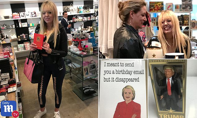 Tiffany Trump shops for Trump action figures in LA