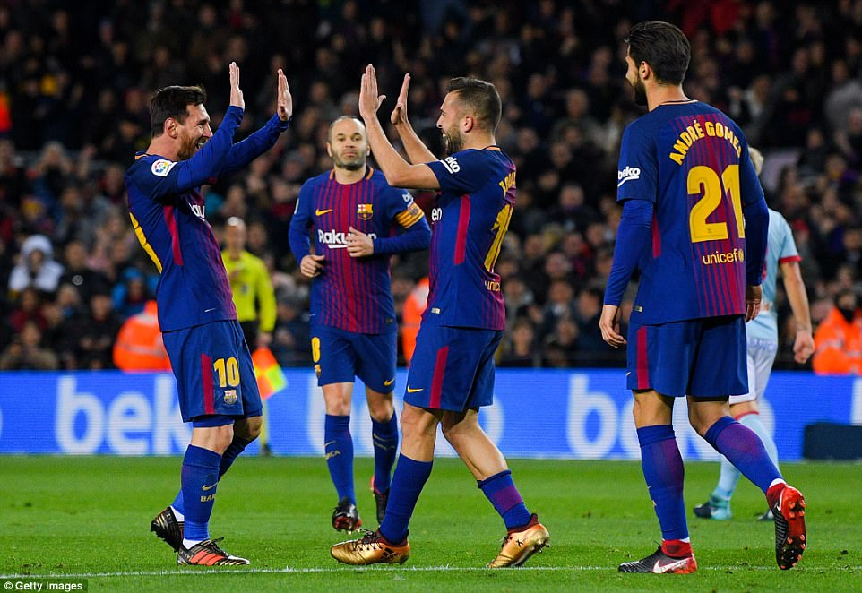 Barcelona eased into the quarter-finals of the Copa del Rey as they tore through a woeful Celta Vigo at the Nou Camp