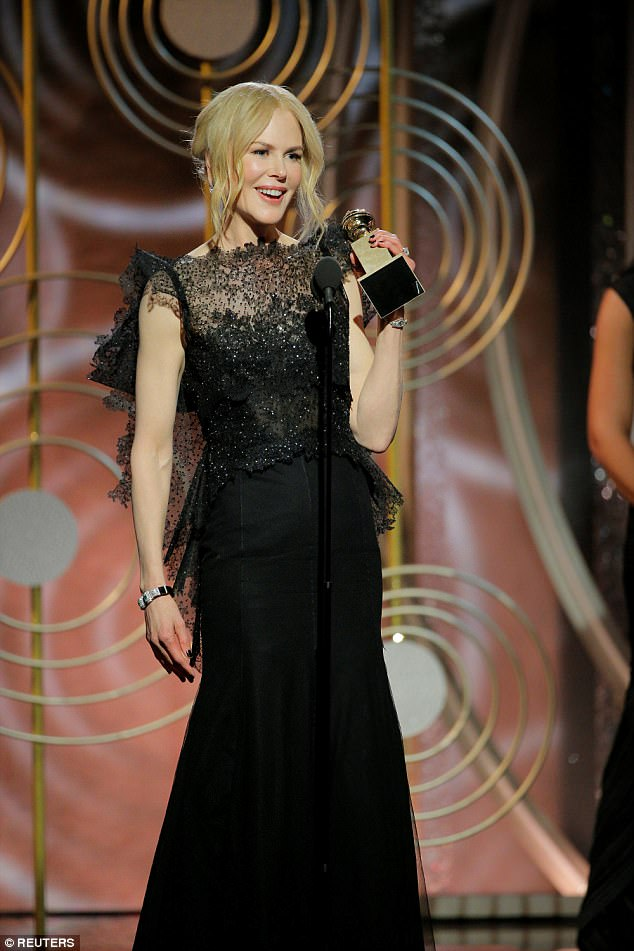 Success!Nicole took home the first award of the night, for her critically-acclaimed role in HBO series Big Little Lies