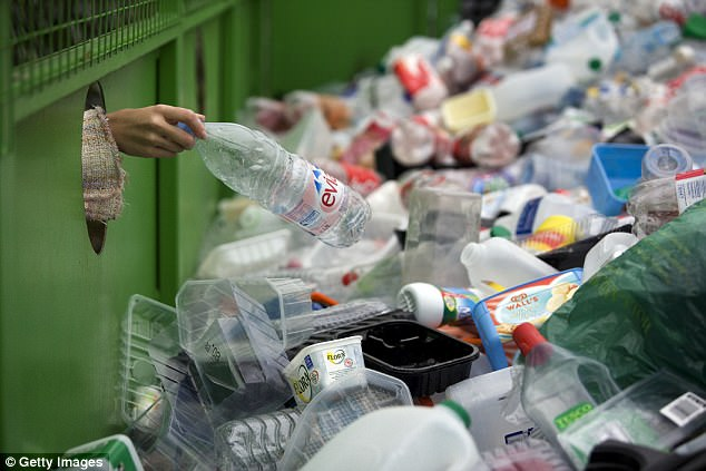 Environment Secretary Michael Gove has described the introduction of a DRS for plastic bottles and drinks cans as a 'great idea' (stock image)