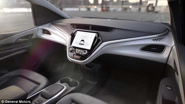 This includes having an airbag in what would normally be the driver's seat, but without a steering wheel. This image shows the proposed two front passenger seats in the vehicle