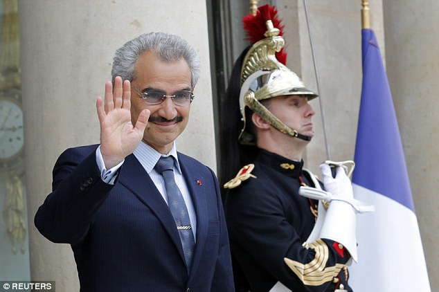 Saudi billionaire investor Prince Alwaleed bin Talal (pictured) has been moved to Al Ha'ir prison after refusing to reportedly pay the Saudi government £728million