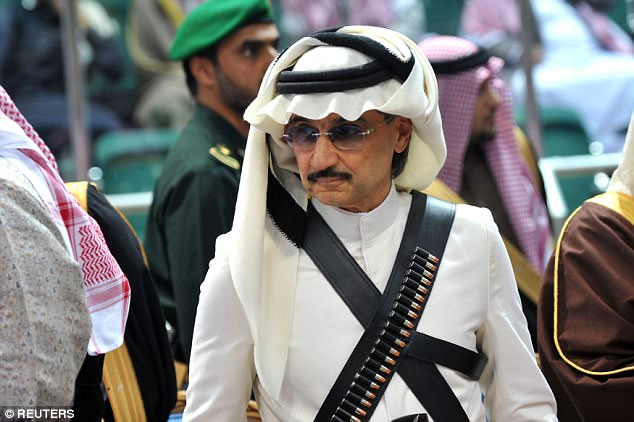He has for the last two months been held at the Riyadh Ritz with 200 other princes and top officials