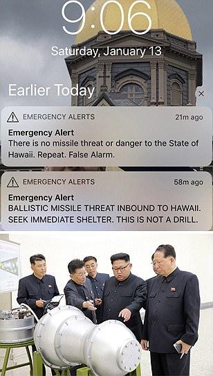 Hawaii sends out 'false alarm' missile threat