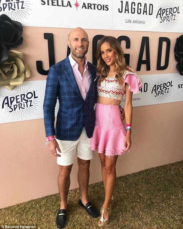 Super-couple: Bec with her AFL legend husband, Chris