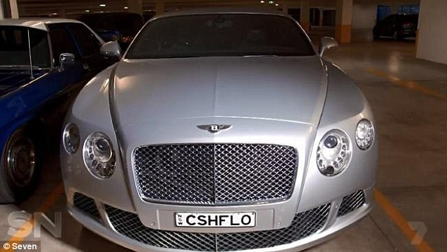 Mr Birch owns a $200,000 Bentley with the number plate 'CSHFLO'