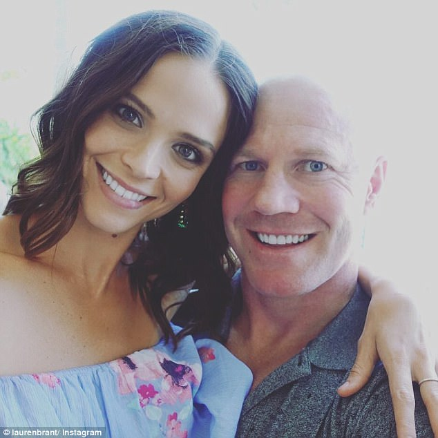 Lovers! But Lauren Brant decided to take Saturday night off and go on a well-deserved dinner date with her AFL star partner Barry Hall