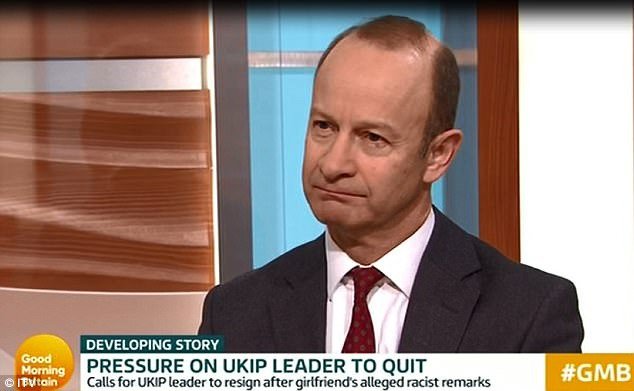 Today, on Good Morning Britain he revealed he dumped Miss Marney last night, but refused to resign