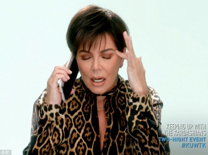 KUWTK: Kris Jenner worries about Kylie's 'situation' | Daily Mail Online