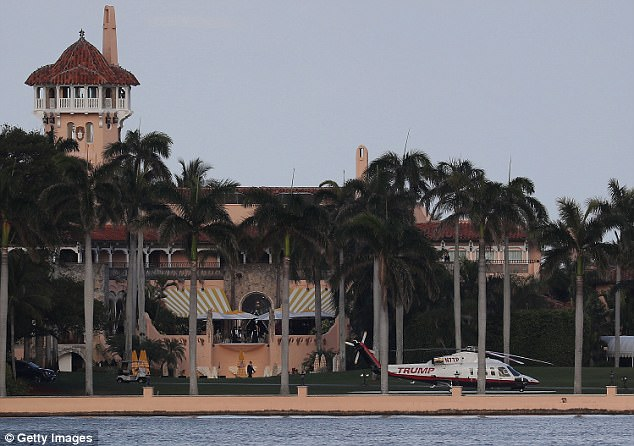 The bed-and-breakfast wing at Mar-a-Lago (pictured) had improper smoke detectors for the hearing impaired and slabs of concrete missing from a staircase, which could cause a fall