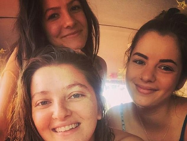 Ms Blake (front) was found dead in her tiny Newtown flat in Sydney's inner-west on Friday, alongside the body of her older Nepalese boyfriend