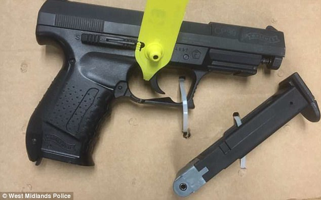 The BB gun wielded during the incident was designed to look like a 9mm semi-automatic pistol