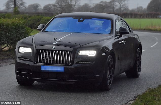 Paul Pogba drives brand new £250,000 Rolls Royce Wraith in to United training at Carrington