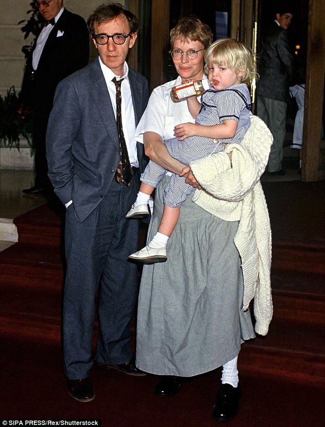 Allen (pictured with his then-wife Mia Farrow and their daughter Dylan) claims Mia 'brainwashed' their daughter